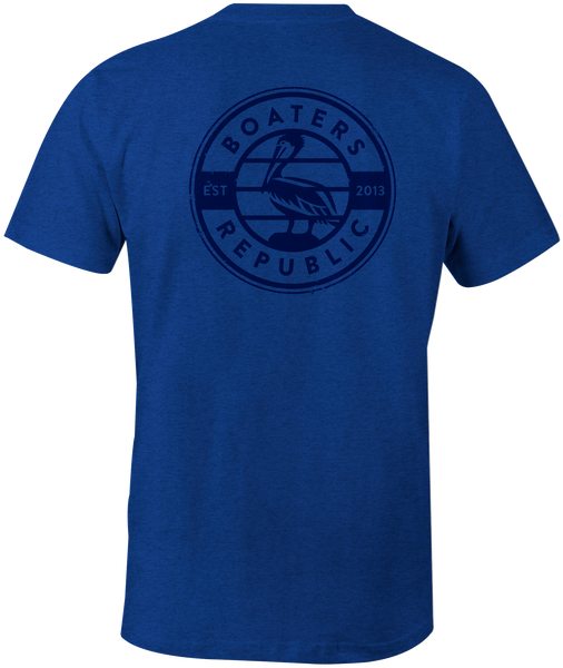 Pelican Stamp S/S - Heather Blue