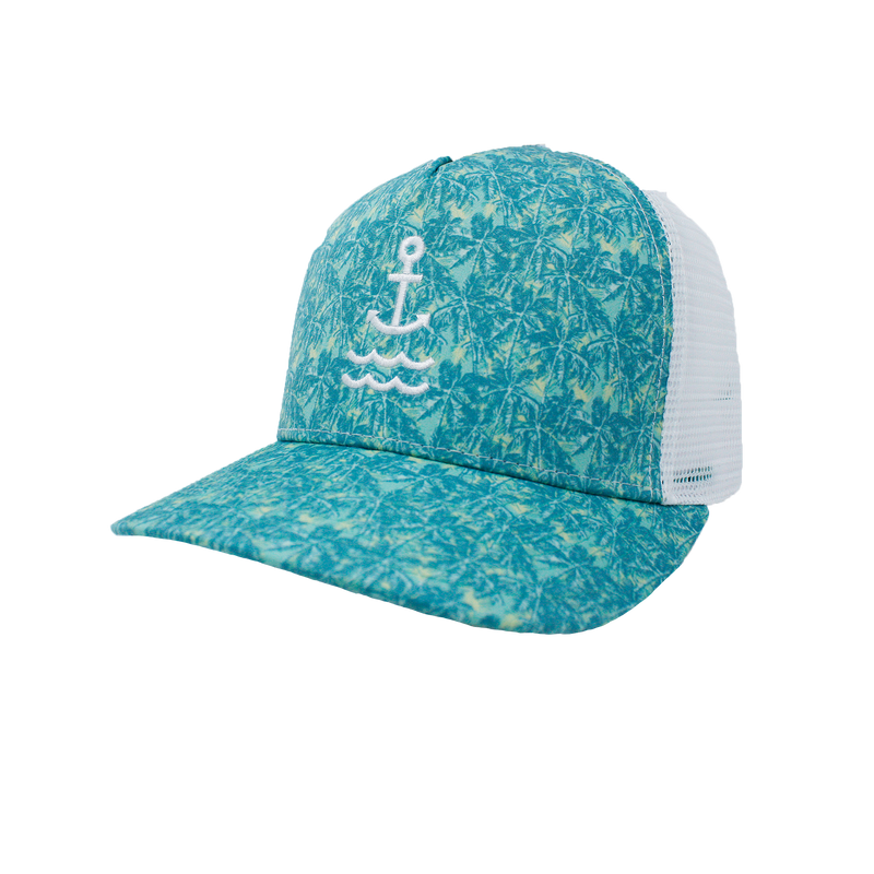 Palm Island Anchor Trucker - Green/White