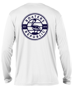 Pelican Stamp L/S - Performance White