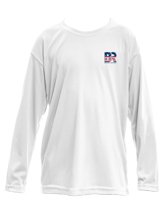 Youth BR Flag L/S - Performance White