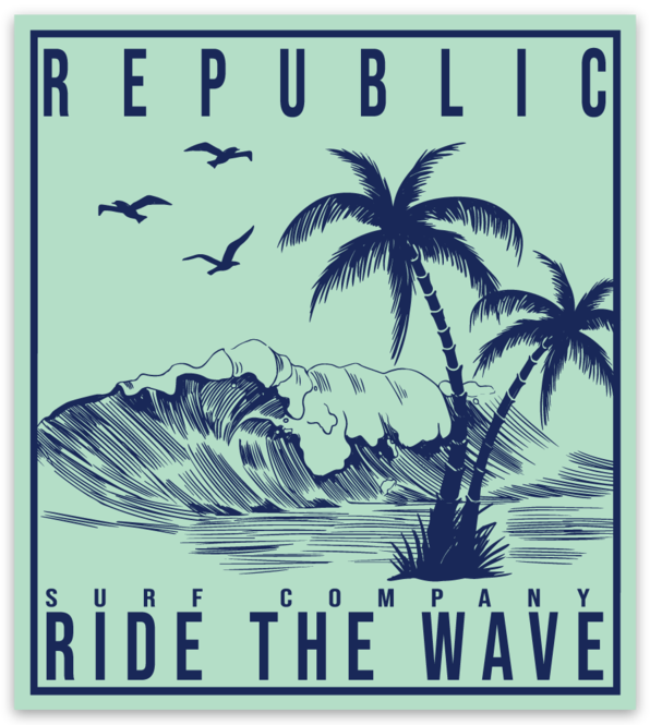 Ride the Wave Decal