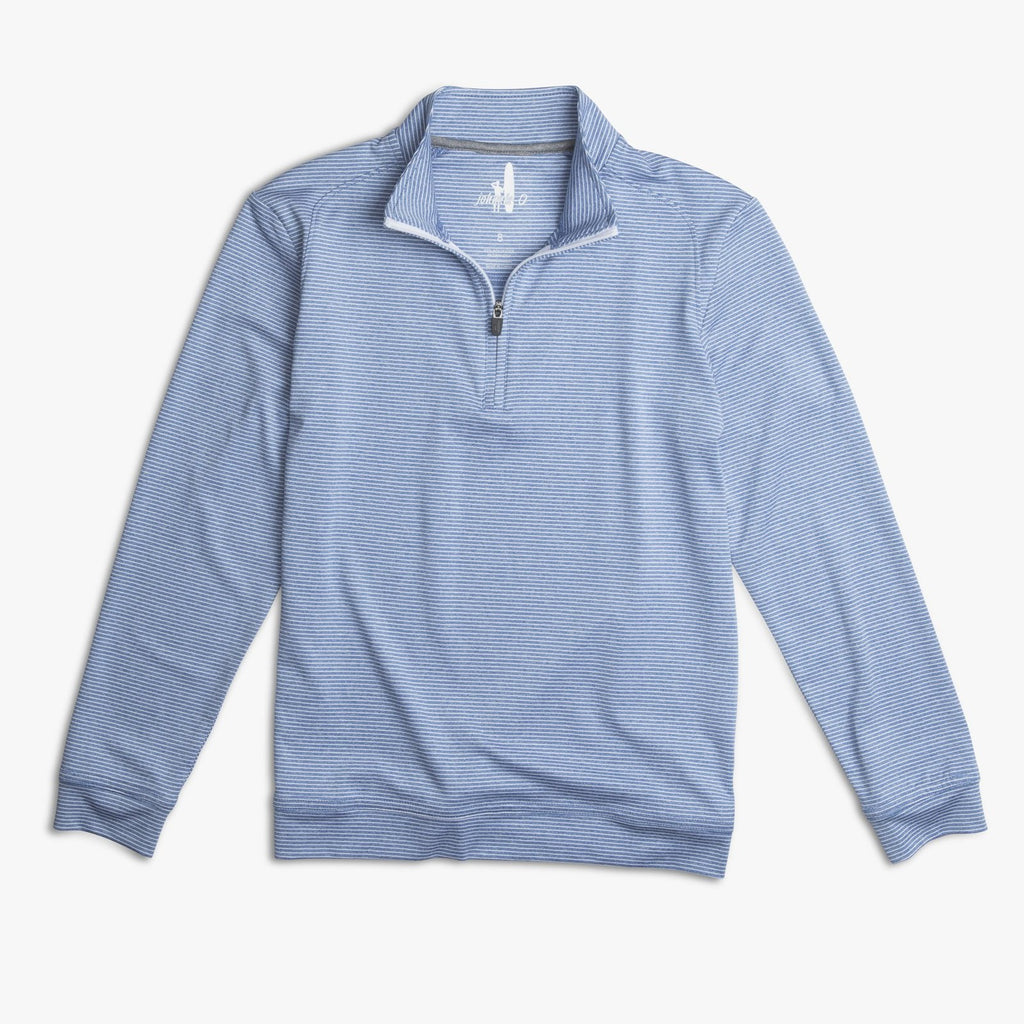 STRIPED FLEX JR. PREP-FORMANCE 1/4 ZIP PULLOVER - Lake