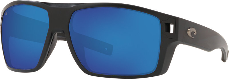 Diego - Matte Black / Blue Mirror 580G