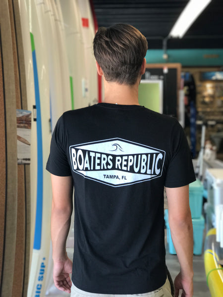 Boaters Republic Tampa Gas Logo Black S/S