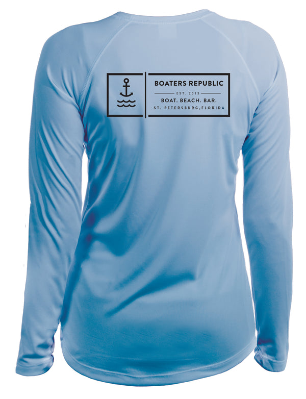 Ladies Anchor BBB L/S - Performance Ice Blue