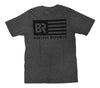 Boaters Republic American Flag S/S - Heather Charcoal - Boaters Republic