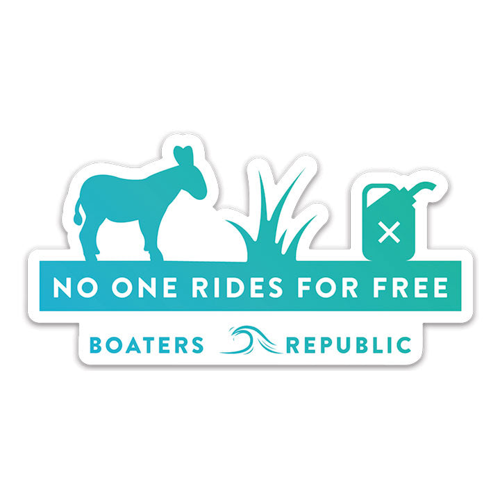 No One Rides Decal