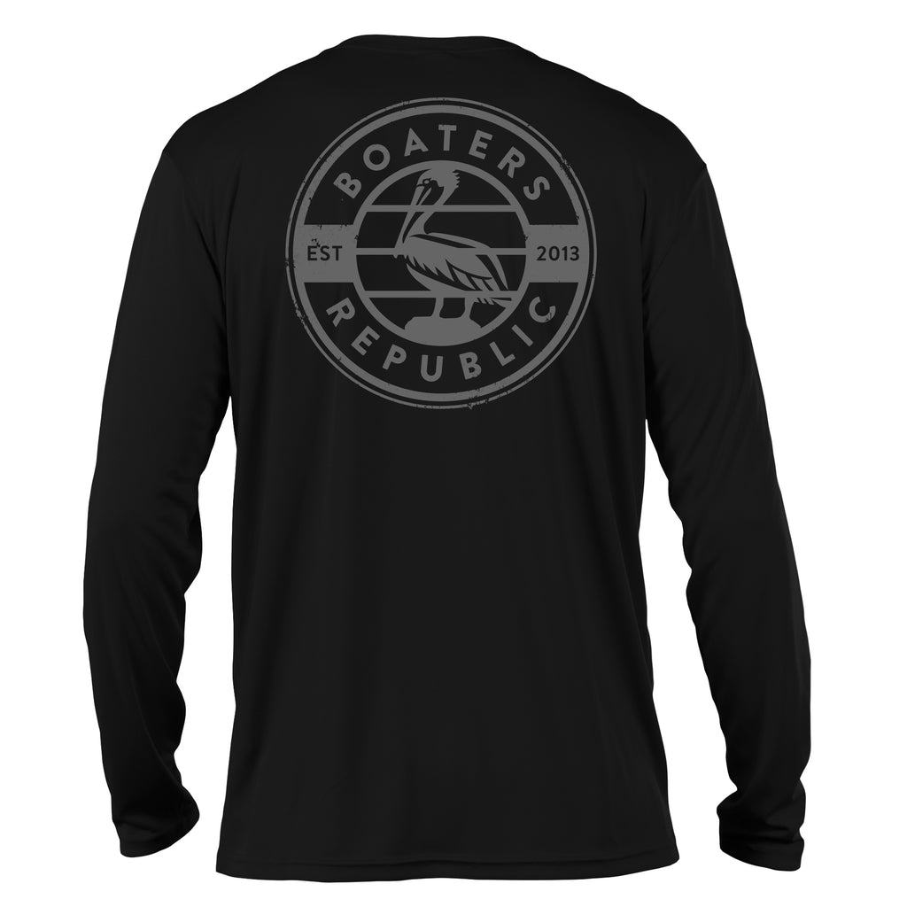 Pelican Stamp L/S - Performance Black