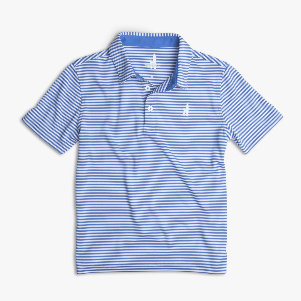 BUNKER PREP-FORMANCE STRIPED JR. POLO - Marlin