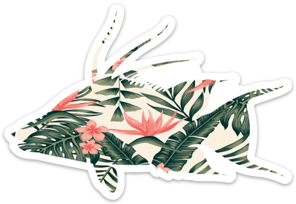 Aloha Hogfish Medium Decal