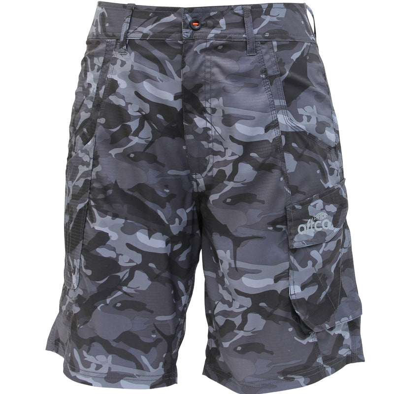 AFTCO Tactical Fishing Shorts - Black Camo
