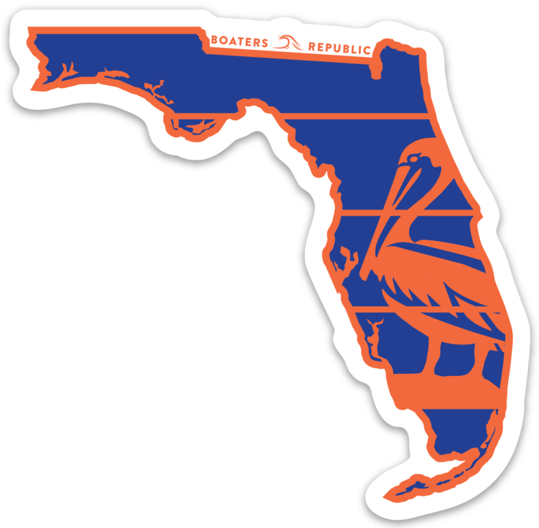 Florida Pelican Decal - Gainesville