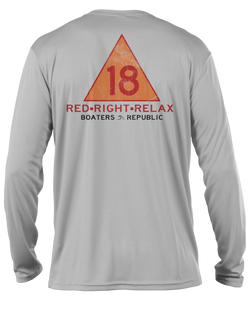 Red Right Relax L/S - Performance Grey