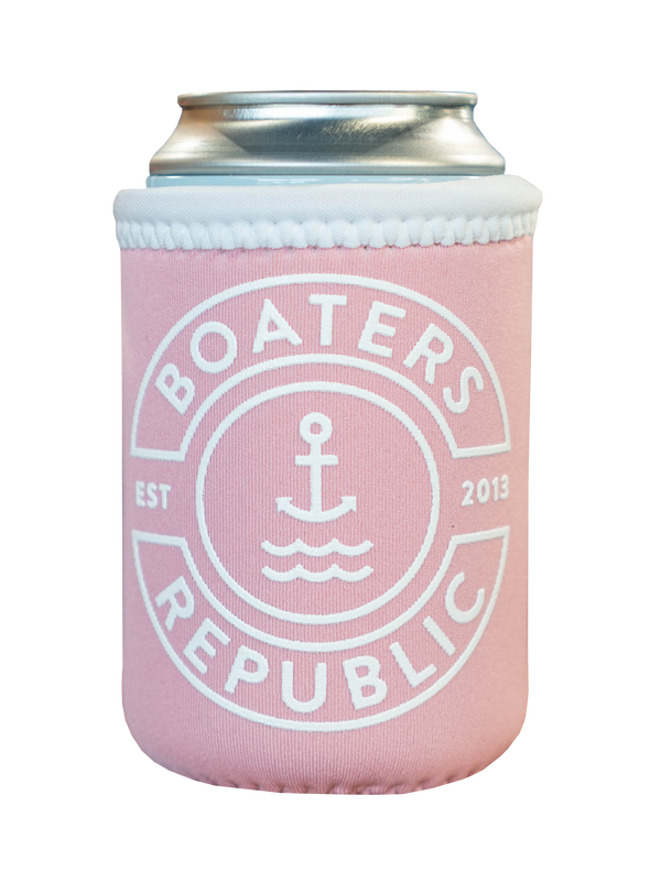 BR Stamp Koozie - Light Pink/White