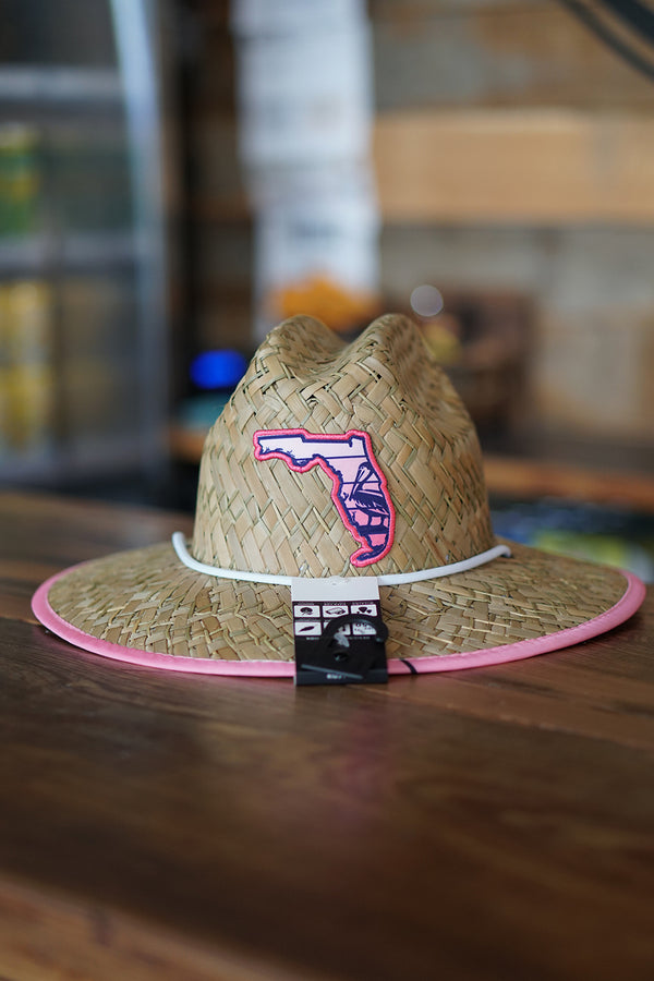 Kids Florida Pelican Straw Hat - Pink