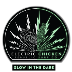 Electric Chicken Decal - Glow in the Dark