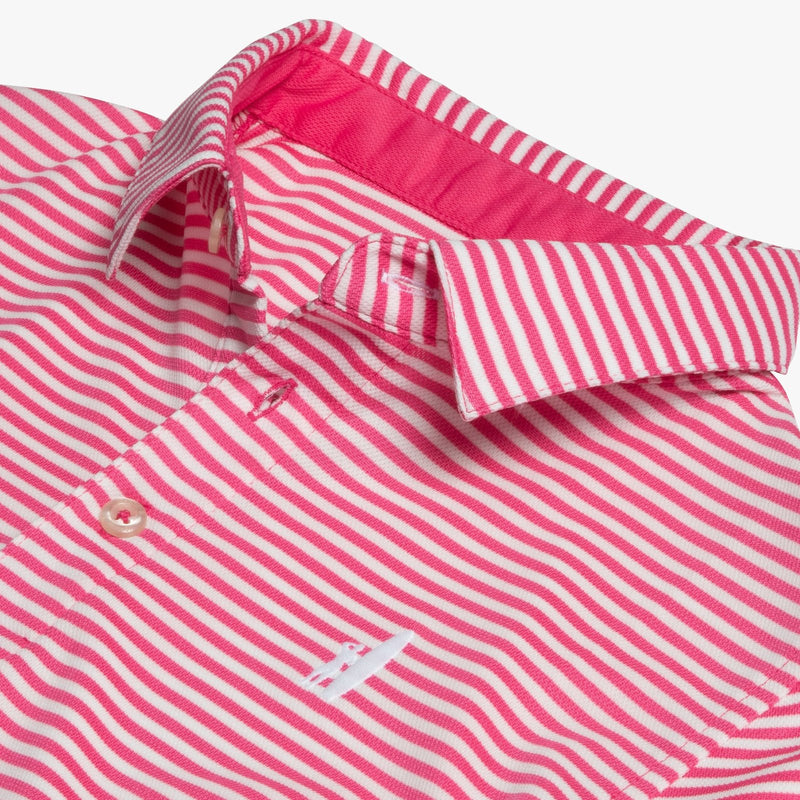 Johnnie-O Bunker PREP-FORMANCE Striped Polo - Rose
