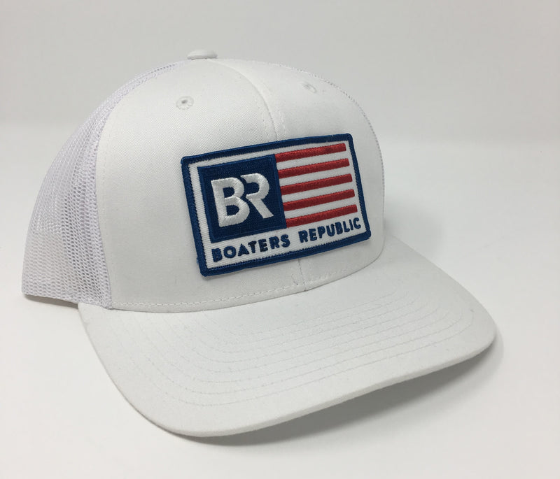 Boaters Republic BR American Flag White - Boaters Republic