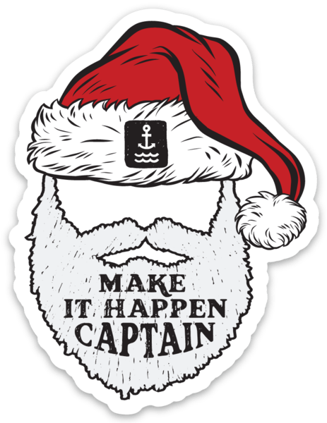 Christmas captain decal