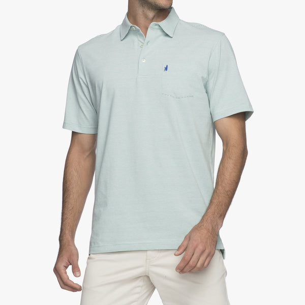 Gentry Striped Polo - Elm