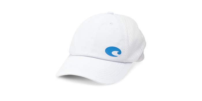 Costa Offset Logo Performance Hat - White