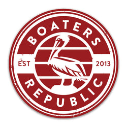 Pelican Stamp Decal - Red