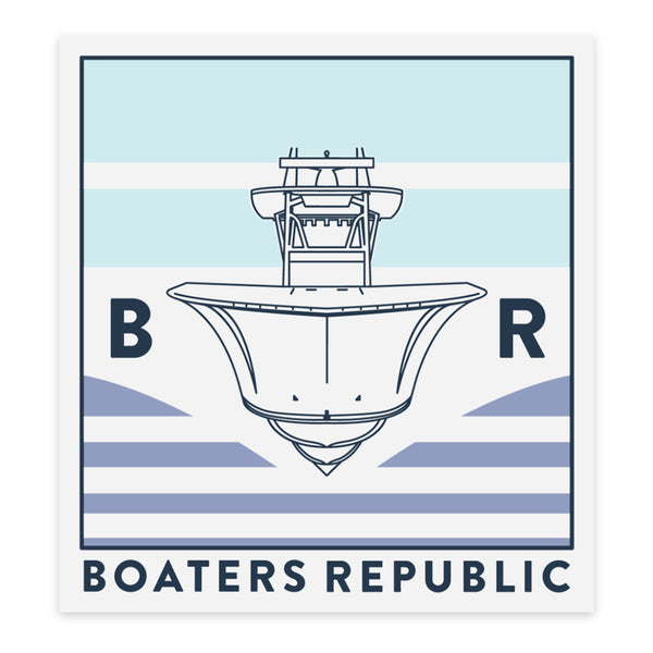 Boaters Republic BR Center Console Decal - Boaters Republic