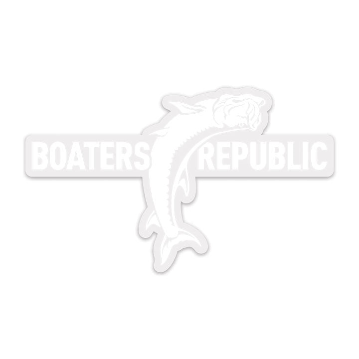 Jumping Tarpon Transparent Decal