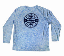 Pelican Stamp L/S - Performance Blue Heather