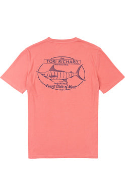 Pacific Blue Tee - Guava