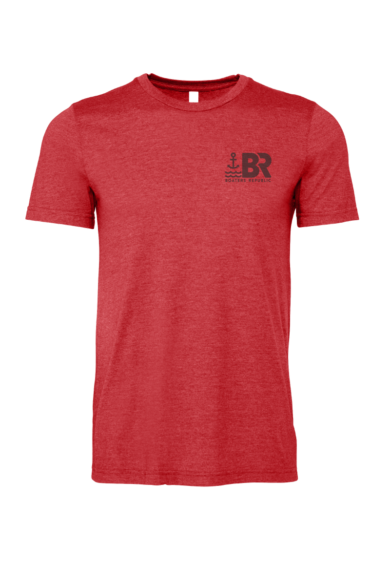 Boat Beach Bar Stamp S/S - Heather Red