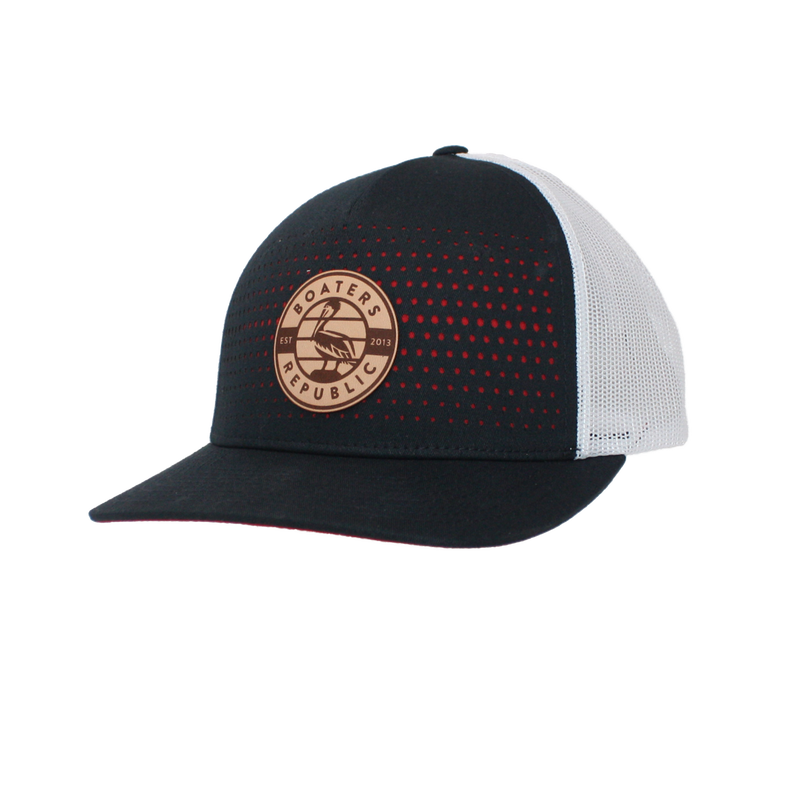 Pelican Patch 2.0 Trucker Hat - Navy/White/Red