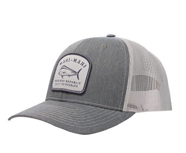 BR Mahi Snap Back - Split Heather Grey/White OSFM