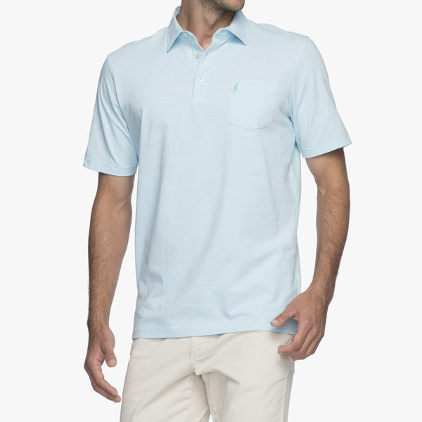 Gentry Striped Polo - Barbados Blue