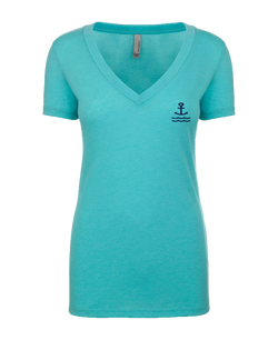 BBB Stamp V Neck S/S - Teal