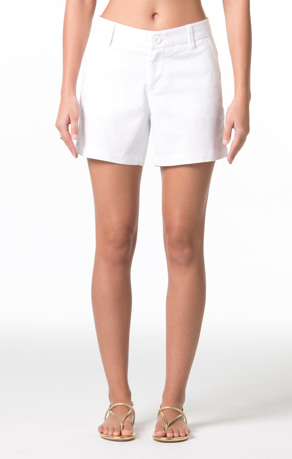 Denim Twill Cindy Short - White