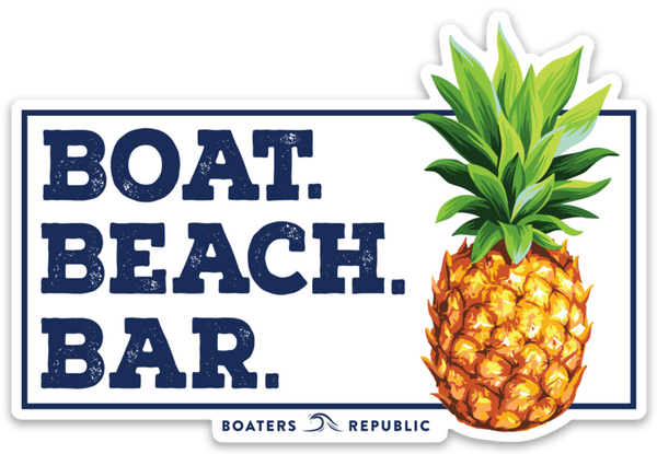 Boat Beach Bar Decal