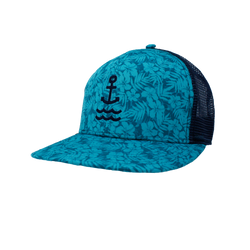 Island Time Anchor Trucker - Teal/Navy