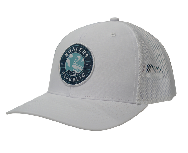 St. Pete Pelican Stamp Hat - Solid White OSFM