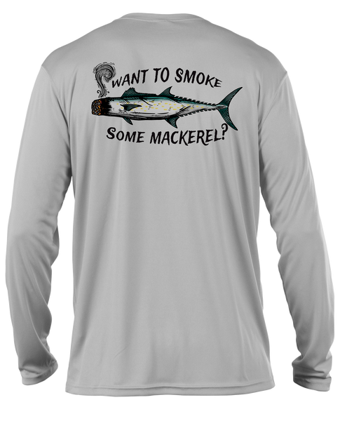 Smoked Mackerel L/S- Performance Grey
