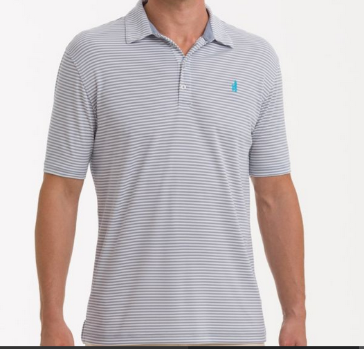 Johnnie-O Johnnie-O Bunker PREP-FORMANCE Striped Polo - Cloud Break - Boaters Republic
