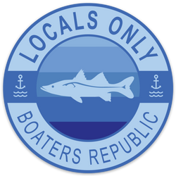 Locals Only Snook Decal