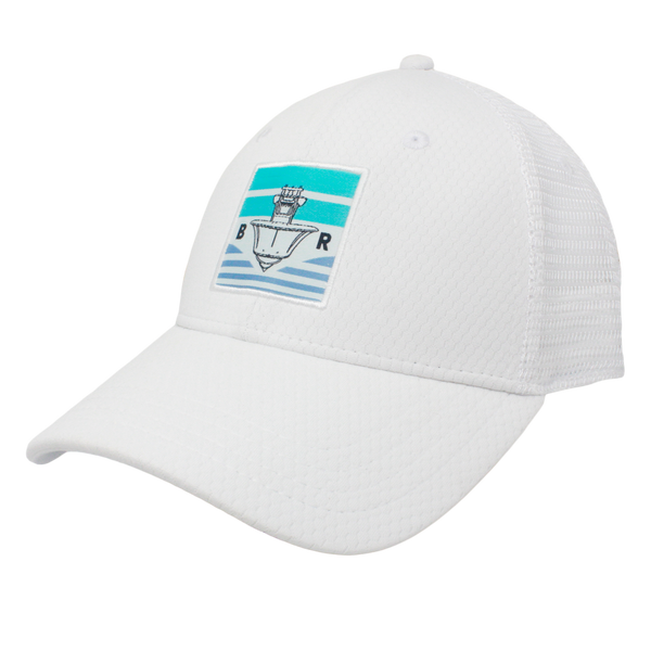 BR Center Console Performance Hat - White