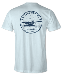 Boaters Airlines S/S - Ice Blue