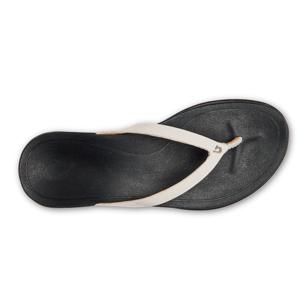 Olukai Ho'opio Leather - White/Black