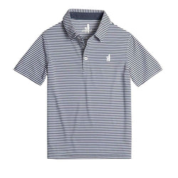 Johnnie-O Bunker PREP-FORMANCE Striped Jr. Polo - Midnight