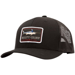 Salty Crew Flat Bill Retro Trucker - Black