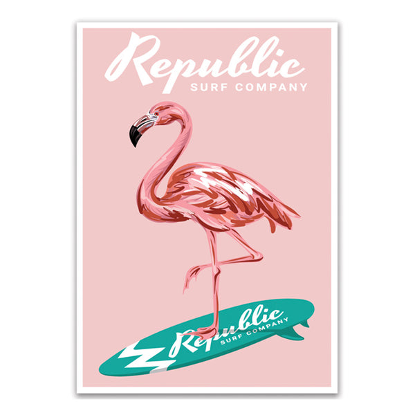 Flamingo Surf Decal