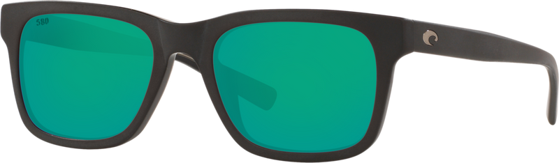Tybee - Matte Black / Green Mirror 580G