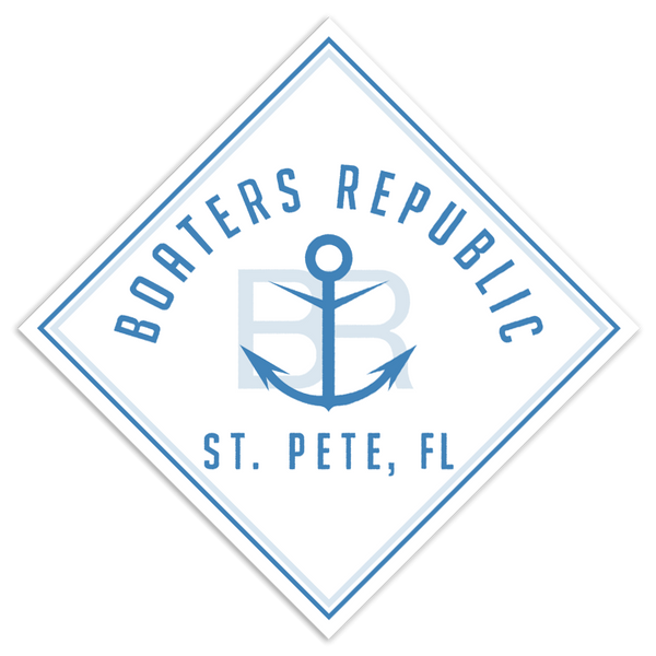 Retro Boaters Republic Logo Decal